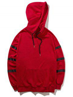 Sweat à Capuche à Motif - Rouge L