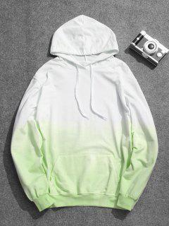 Mens Ombre Hoodie - Green 3xl