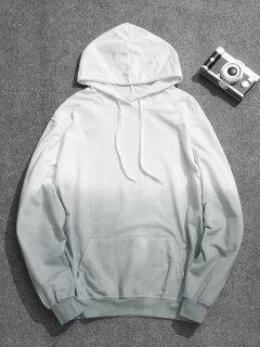 Mens Ombre Hoodie - Blue Gray 4xl