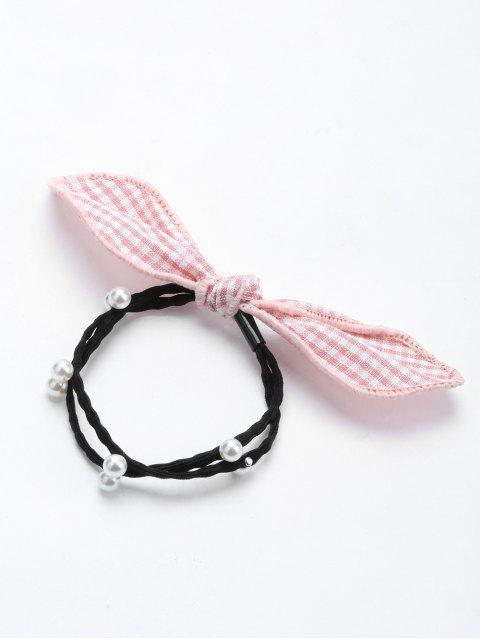 Perle artificielle arcs Elastique bande de cheveux - ROSE PÂLE  Mobile