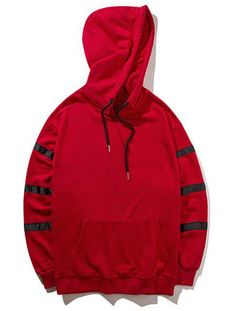 online Graphic Pullover Hoodie - RED M Mobile
