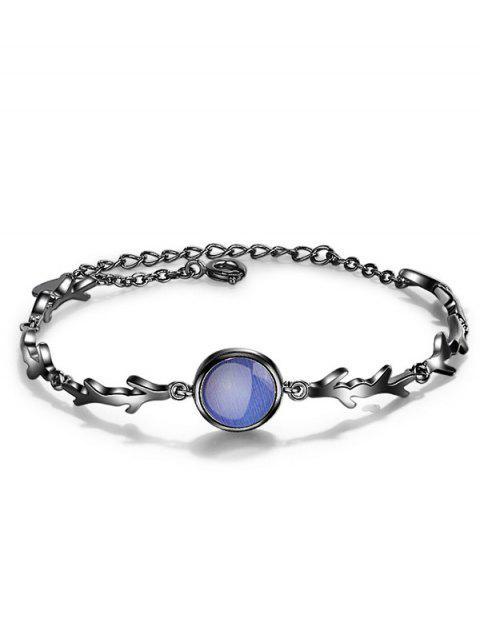 Faux bracelet chaîne émeraude - Bleu  Mobile