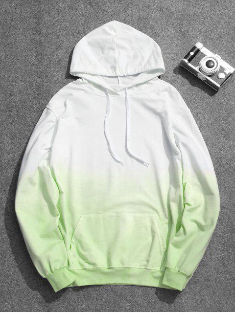 fancy Mens Ombre Hoodie - GREEN 2XL Mobile