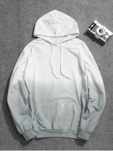 ladies Mens Ombre Hoodie - BLUE GRAY 2XL Mobile