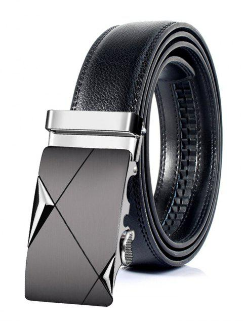 buy Vintage Automatic Metal Buckle Artificial Leather Belt - SILVER 125CM Mobile