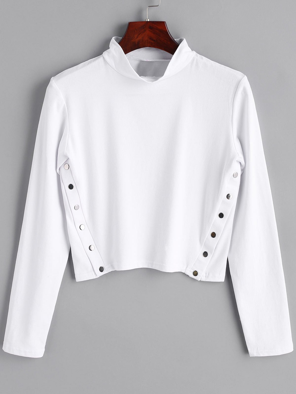 Long Sleeve Side Buttoned Top 240071907