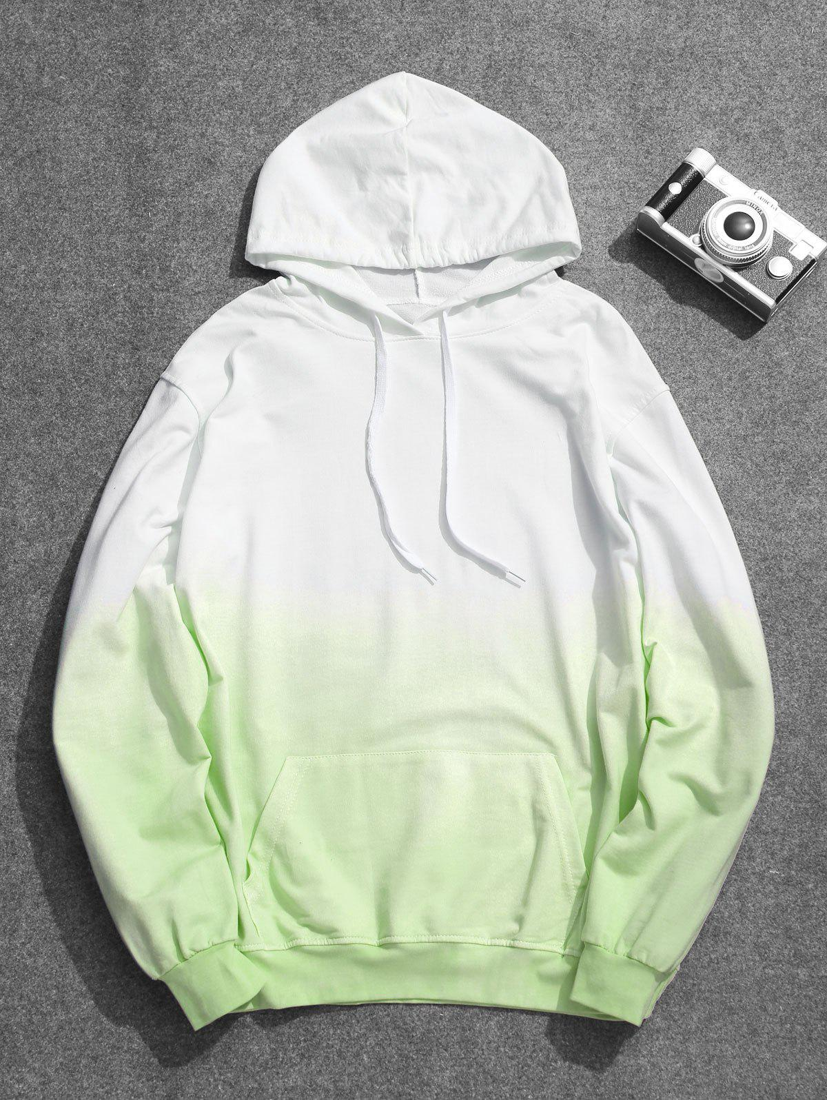 Mens Ombre Hoodie, Green