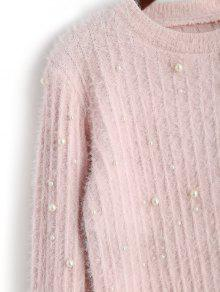 Crew Neck Beading Sweater PINK: Sweaters ONE SIZE | ZAFUL