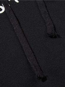 Carta De Sudadera Capucha Con Bloque Color Negro Xl 66WqErUnTw