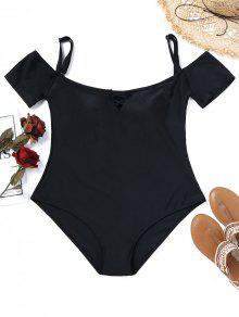 Padded Plus Size One Piece Bathing Suit - Preto Xl