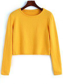 Pullover Sweater Com Liso - Amarelo M
