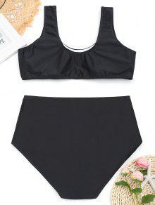 Negro Floral Alto 4xl Con De Bikini Estampado Talle wTpzRaq