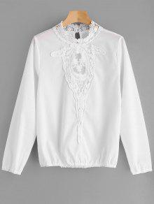 Blusa De Laço E Malha - Branco Xl
