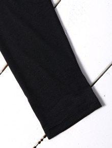 Bordados Negro La Hombro En M Parches Parte Superior Del Recortados d8qPwf