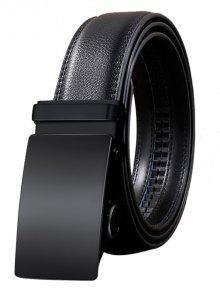 خمر التلقائي مشبك جلد الاصطناعي حزام - أسود 110cm