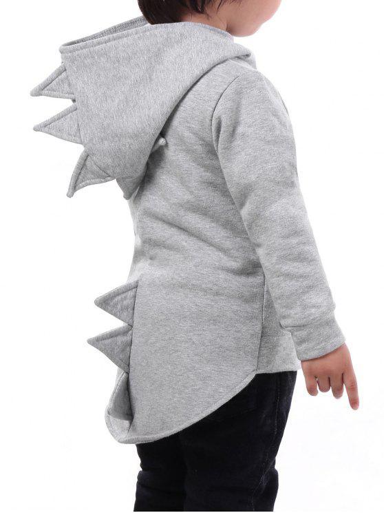 ارتفاع منخفض تنحنح الاطفال البريدي الديناصور هوديي - اللون الرمادي 100