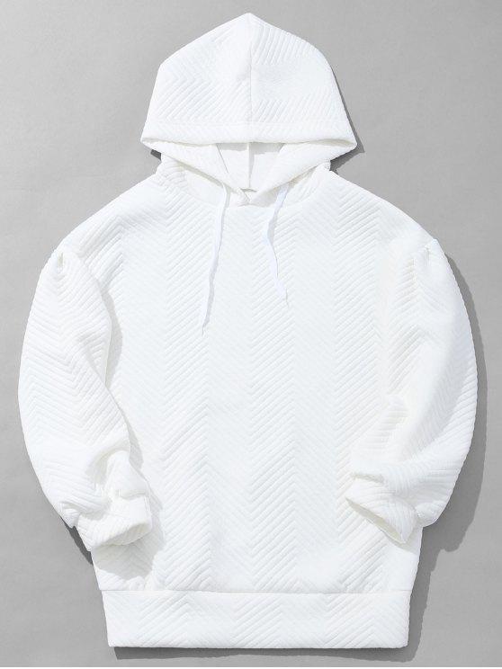 Der strukturierte Hoodie der Männer - Weiß S