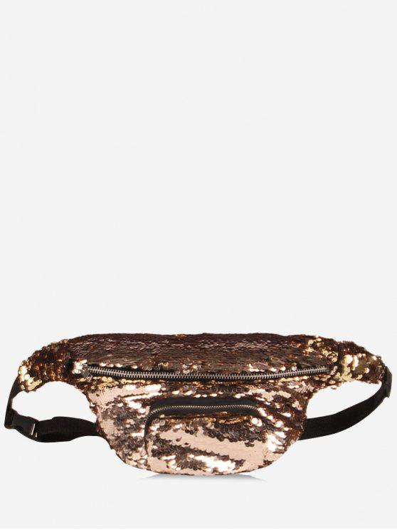 Sequins Fanny Pack - Champanhe ouro