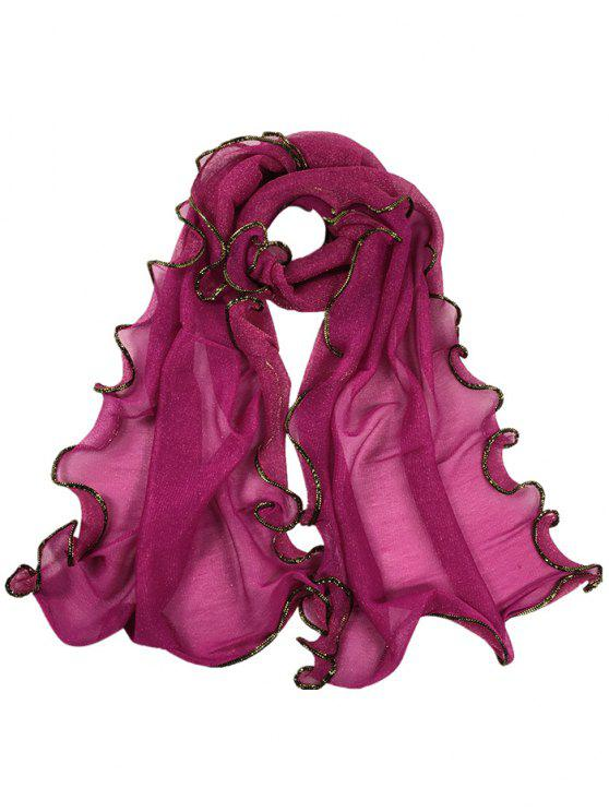 lady Golden Edge Decoration Silky Long Shawl Scarf - TUTTI FRUTTI