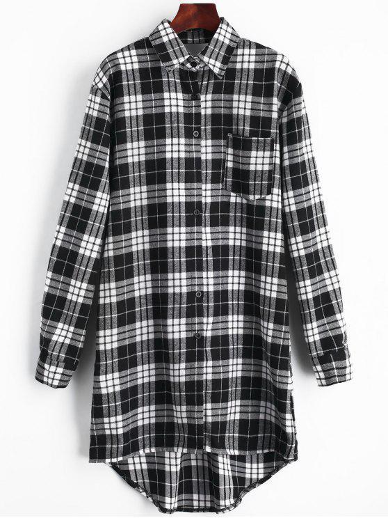 Vestido de bolsillo con espalda recortada - Negro XL