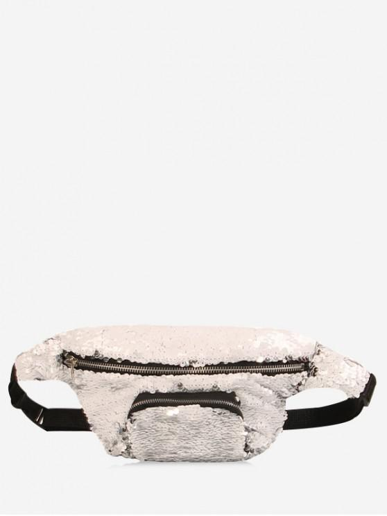 sale Sequins Fanny Pack - SILVER