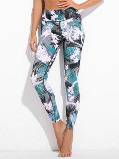 Plant Print Exercise Leggings - Xl