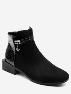 Low Heel Ankle Boots - Black 39