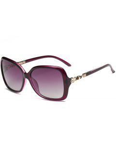 Gafas De Sol De Gran Tamaño Con Incrustaciones De Diamantes De Imitación De Diamantes De Imitación - Púrpura