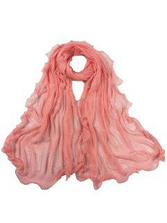 Vintage Wrinkle Silky Long Shawl Scarf - Peony Pink