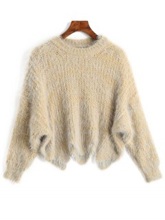 Zigzag Hem Chunky Sweater - Luz Amarilla