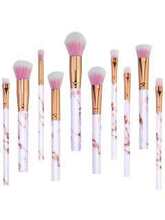 Sistema De Cepillo Elegante Del Maquillaje Del Pelo De La Fibra Sintética 10Pcs - Camafeo