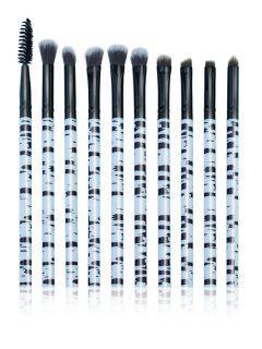 Ensemble Professionnel De Pinceau De Maquillage D'oeil De Cheveux De Fibre Synthétique - Noir