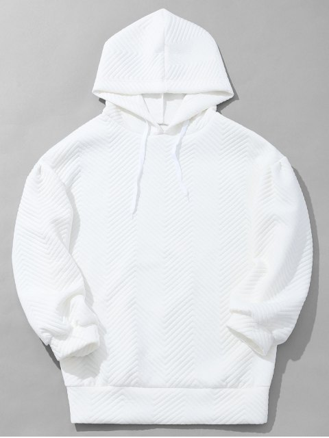 best Mens Textured Hoodie - WHITE S Mobile
