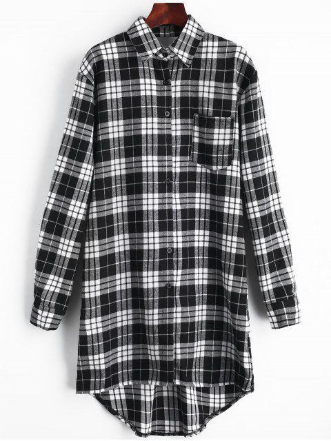 Vestido de bolsillo con espalda recortada - Negro XL Mobile