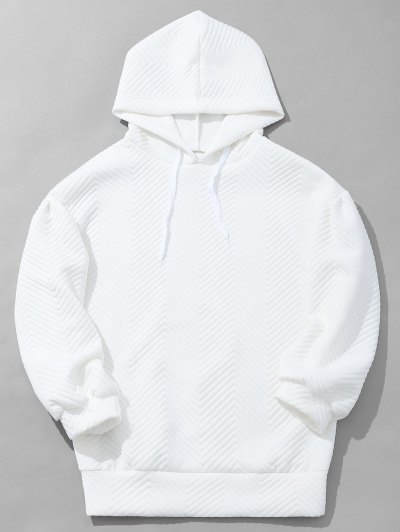 32 Off 2019 Mens Textured Hoodie In White