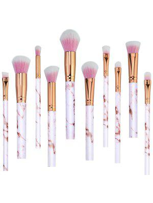 Sistema de cepillo elegante del maquillaje del pelo de la fibra sintética 10Pcs