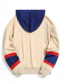 Albaricoque Capucha Sudadera L Color Block Con Young Girl tqnYXYwa