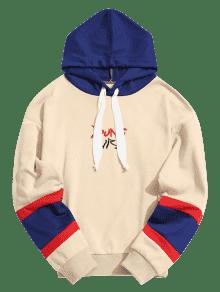 Albaricoque Girl L Capucha Sudadera Con Block Color Young qnE4YRO