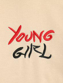 Young Capucha Albaricoque Con L Girl Color Sudadera Block Z8BFq5