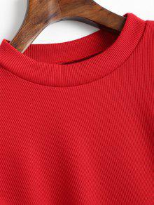 M Rojo Ribbed Out Cut Tee OIASSq