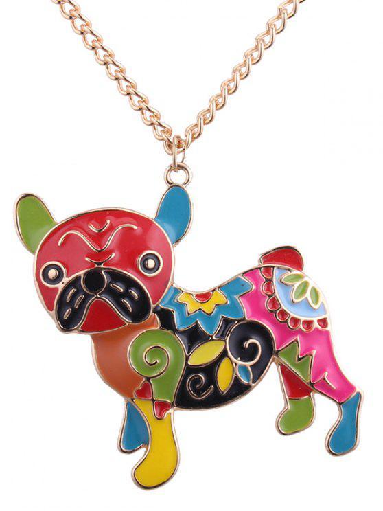 best Dog Shape Metal Pendant Necklace - COLORMIX
