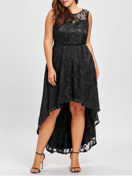 فستان السهرة الحجم الكبير دانتيل - أسود 3XL