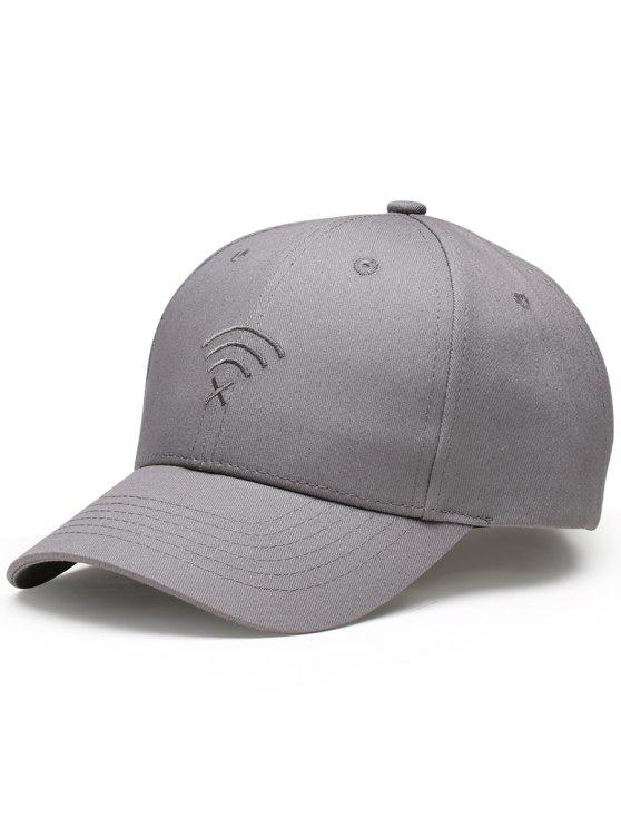 womens WIFI No Signal Embroidery Decorated Baseball Hat - GRAY
