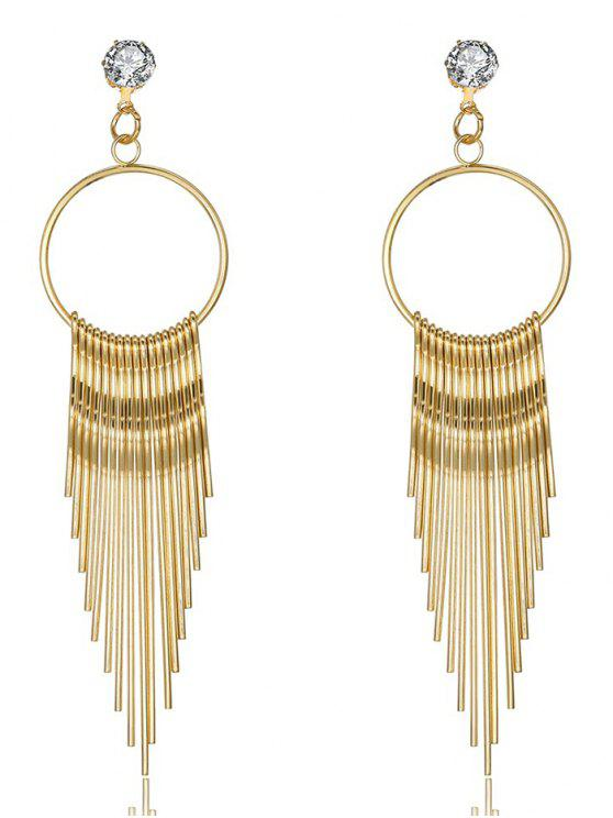 outfits Metal Strip Geometrical  Fringed Drop Earrings - GOLDEN
