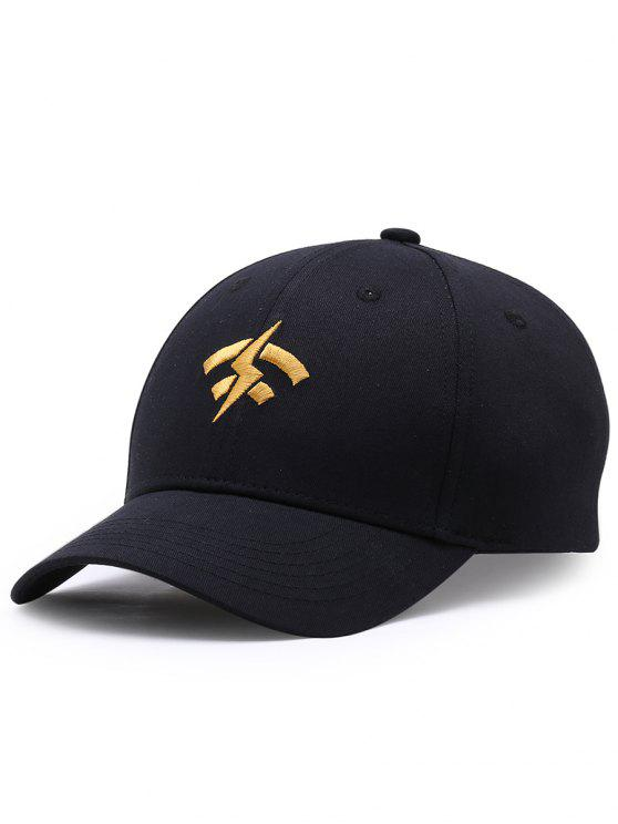 chic Funny Lightning Wifi Pattern Adjustable Baseball Cap - BLACK