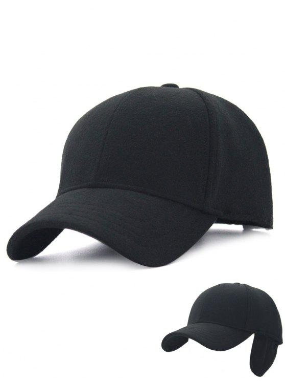 d1543718 2018 Winter Line Embroidery Earmuffs Baseball Cap In BLACK | ZAFUL