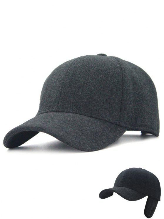 7681b28da58 2018 Winter Line Embroidery Earmuffs Baseball Cap In DEEP GRAY