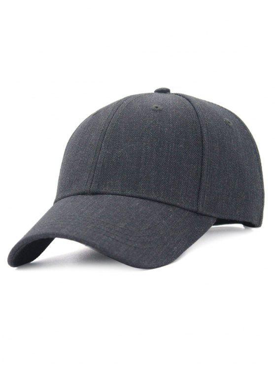 hot Line Embroidery Adjustable Baseball Cap - DEEP GRAY