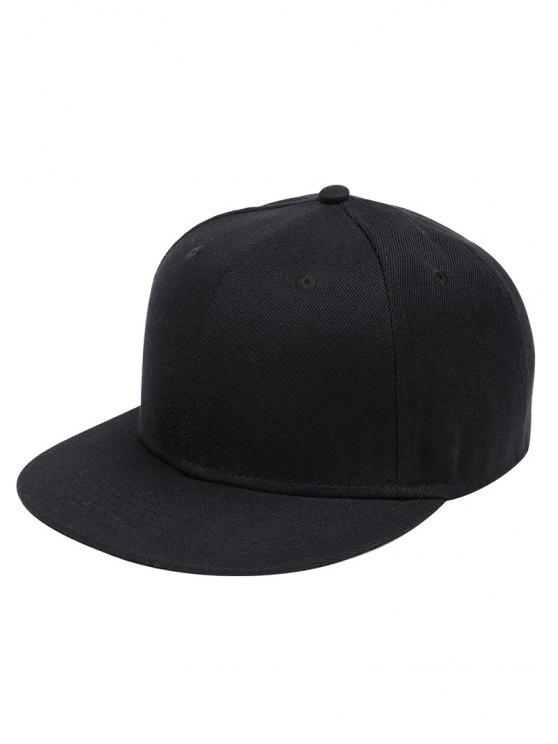 shop Line Embroidered Flat Baseball Cap - BLACK