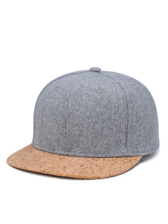 unique Hip Hop Style Ajustable Baseball Cap - LIGHT GREY